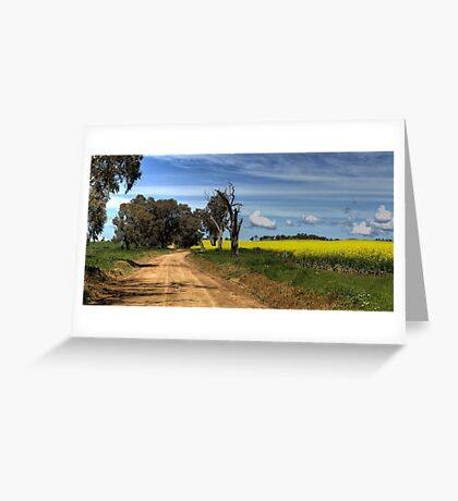 Through the Canola Greeting Card