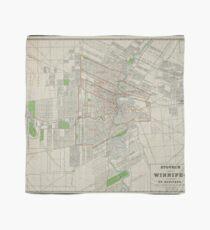 Vintage Map of Winnipeg Canada (1917) Scarf