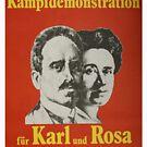 Karl Liebknecht and Rosa Luxemburg, Communist Propaganda Poster  by Remo Kurka