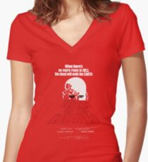 romero cult movie dawn of the  dead Women's Fitted V-Neck T-Shirt