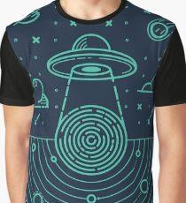 Ufo in dark night.  Graphic T-Shirt