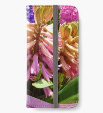 Hyazinthen iPhone Flip-Case/Hülle/Klebefolie