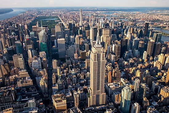 Aerial Empire State Building and Central Park by Ana Andres-Arroyo