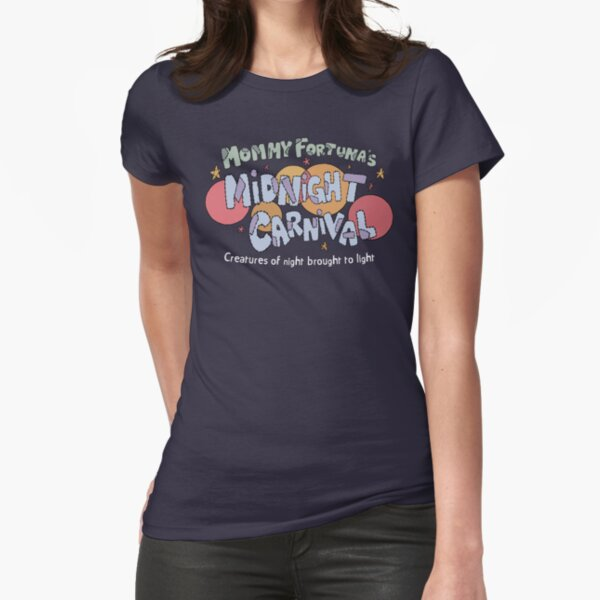 Mommy Fortuna's Midnight Carnival Fitted T-Shirt