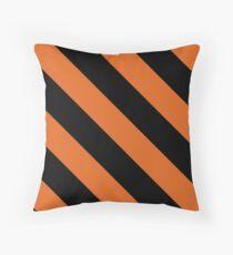 Princeton New Jersey Black & Orange Team Color Stripes Throw Pillow