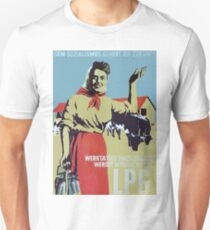 Happy East German Farmer - Socialism is the Future, old propaganda poster Unisex T-Shirt