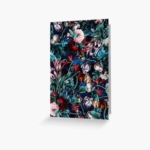 NIGHT FOREST X Greeting Card