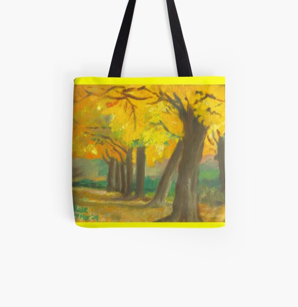 Autumn trees All Over Print Tote Bag