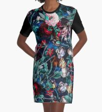 NIGHT FOREST X Graphic T-Shirt Dress