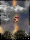 Umbrellas in a Cloudscape by Wayne King