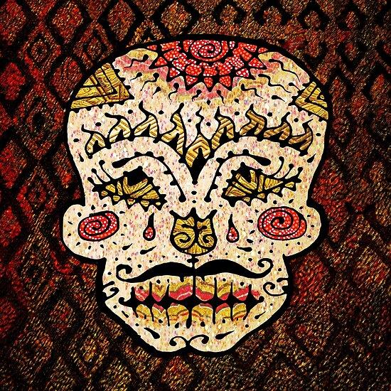 'Sweet Sugar Skull #2' by ellejayerose