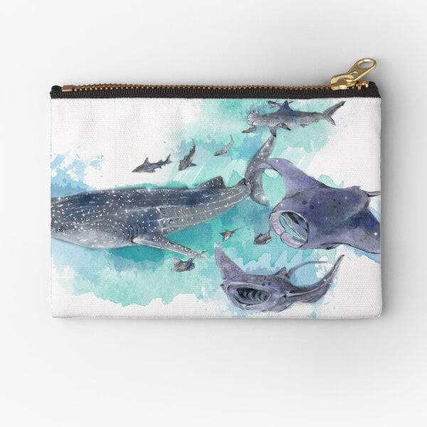Star Sharks and Rays Zipper Pouch