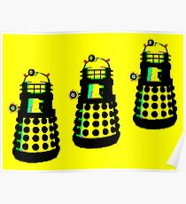YELLOW AND BLACK DALEK ATTACK Poster