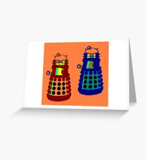PIXELATE EXTERMINATE 1 Greeting Card