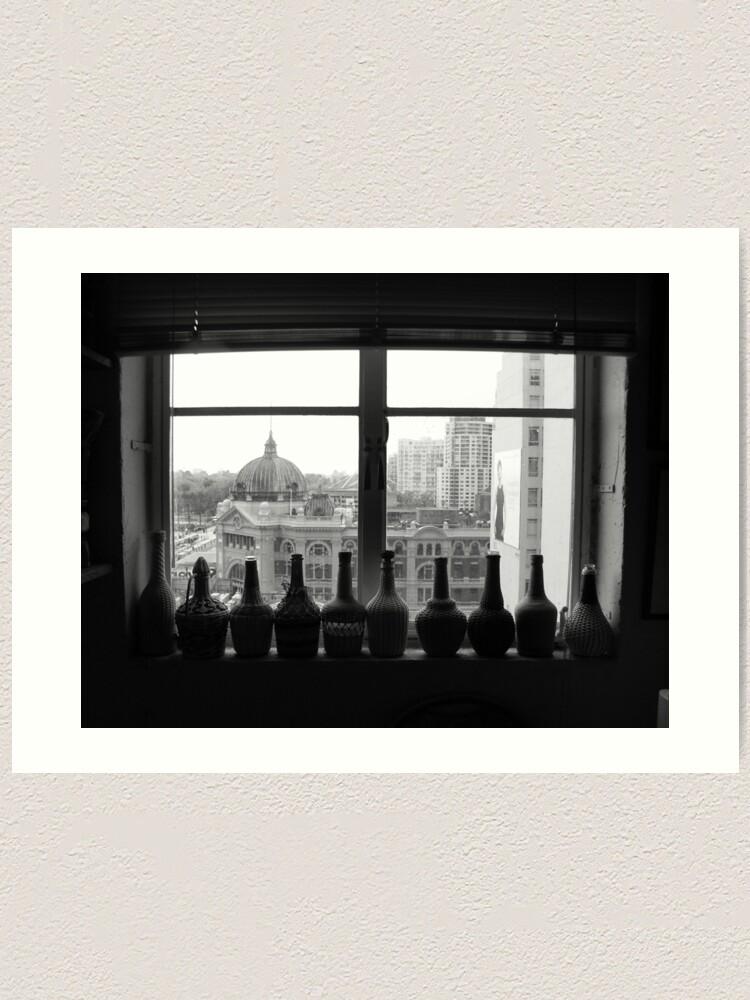 Alternate view of Flinders St Inside & Out Art Print