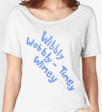 Wibbly Wobbly Timey Wimey in Blue & White Women's Relaxed Fit T-Shirt
