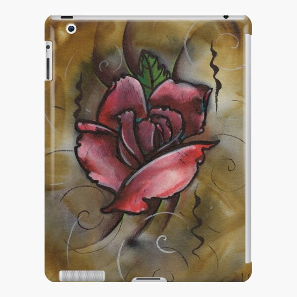 mixed media rose painting iPad Snap Case