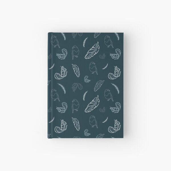 Robin and Feather Pattern Hardcover Journal