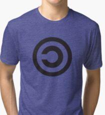 Copyleft Symbol - Support the Free Web! Tri-blend T-Shirt