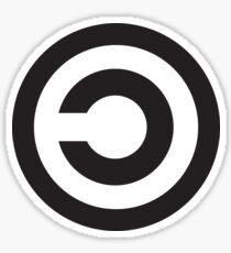 Copyleft Symbol - Support the Free Web! Sticker