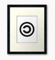 Copyleft Symbol - Support the Free Web! Framed Print