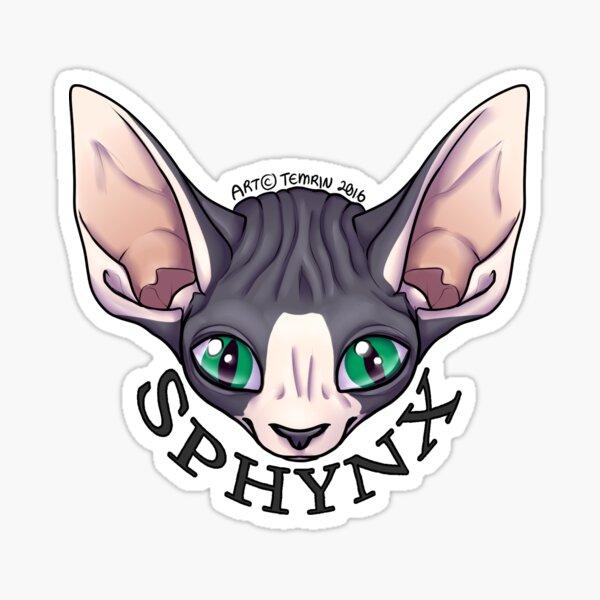 Sphynx Cat - Mottled Sticker