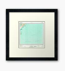 USGS TOPO Map Alaska AK Kaguyak 360996 1952 250000 Framed Print