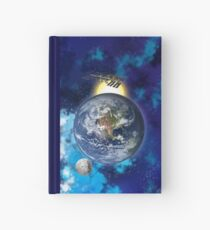 ISS, Moon and Earth. Hardcover Journal