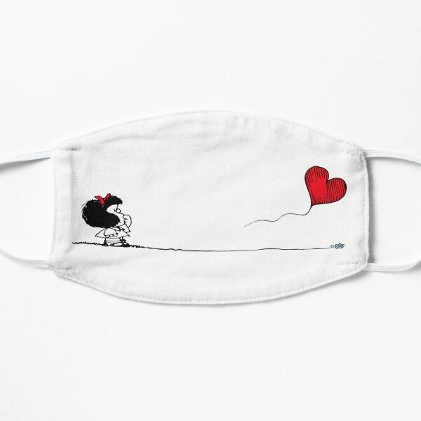 Mafalda,globo,corazón  Mascarilla plana