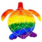 Rainbow Turtle by moietymouse