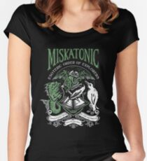 Miskatonic Esoteric Order of Explorers Women's Fitted Scoop T-Shirt
