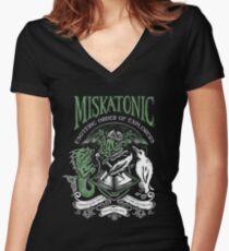 Miskatonic Esoteric Order of Explorers Women's Fitted V-Neck T-Shirt
