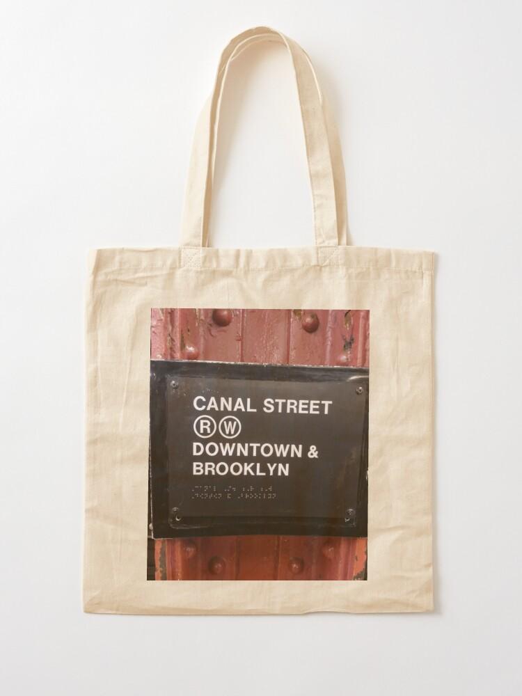 Alternate view of Street, City, Buildings, Photo, Day, Trees, New York, Manhattan, Brooklyn Tote Bag
