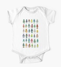 Robot Line-up on White Kids Clothes