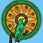 Humming Bird Mandala by Abi Latham