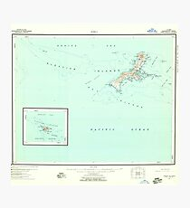 USGS TOPO Map Alaska AK Kiska 361049 1951 250000 Photographic Print