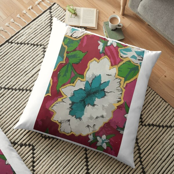 Colourful design fitting for people who loves Floral Motif / Batik Indonesian Sarong. Floor Pillow