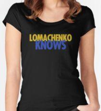 "Vasyl Lomachenko ""Knows"" Women's Fitted Scoop T-Shirt"