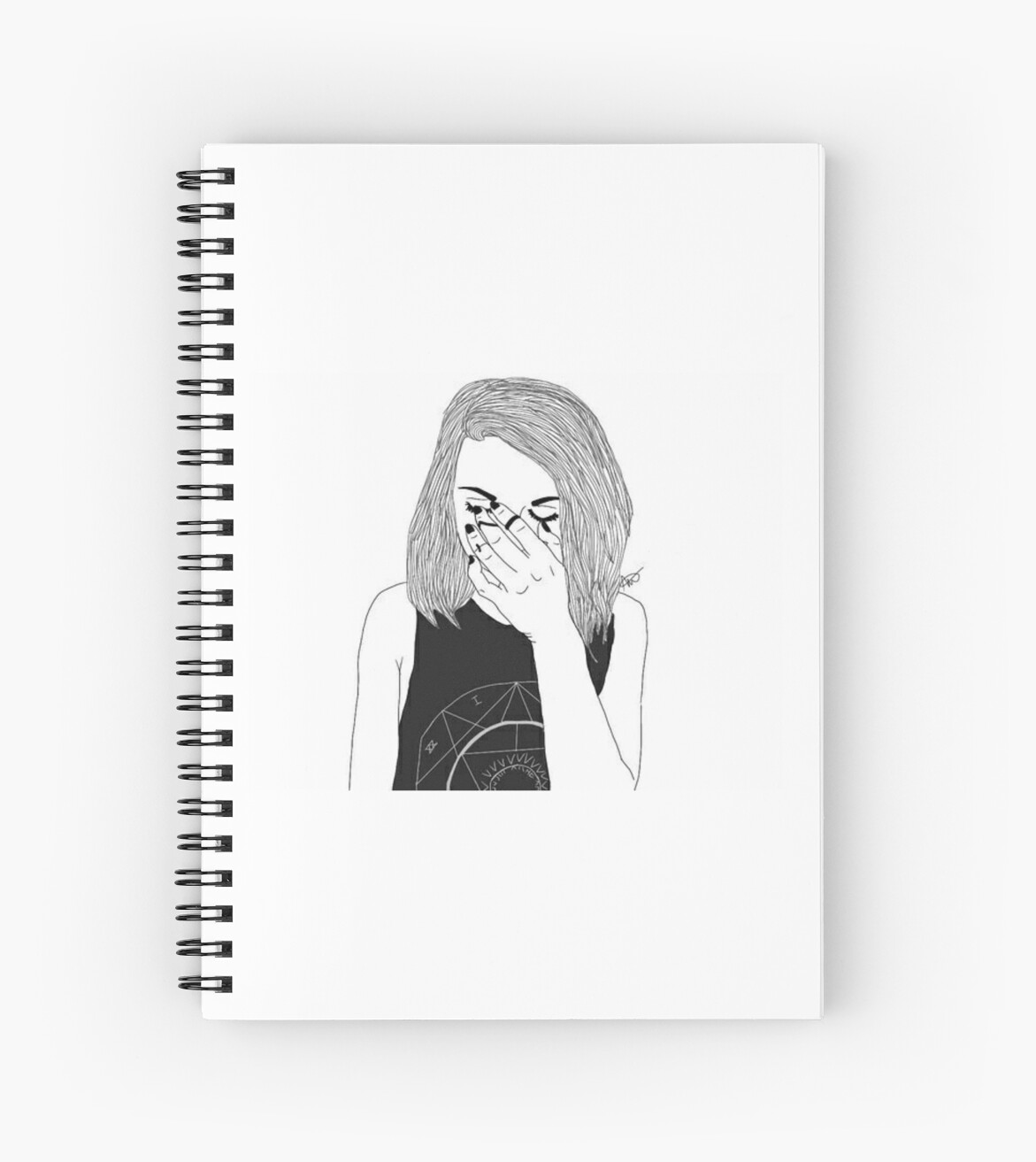 u0026quot outline girl tumblr transparent u0026quot  spiral notebooks by