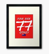 Punk Rock Sydney 1977 Framed Print