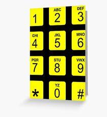 Phone Numbers Greeting Card