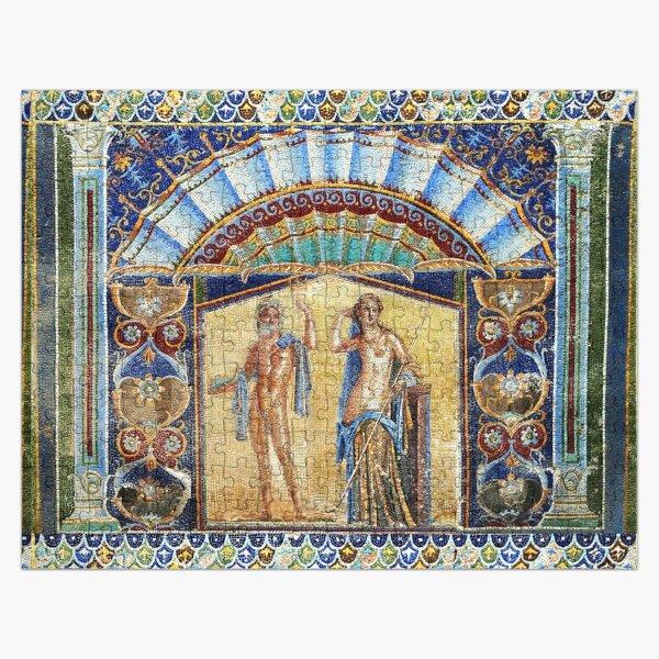 NEPTUNE AND AMPHITRITE Hercolanum Roman Mosaics  Jigsaw Puzzle