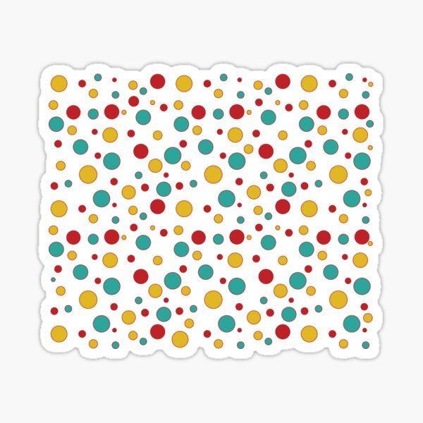 Tasty Goodness Colorful Dots series accessories Sticker