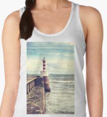 Amble Pier Lighthouse Women's Tank Top