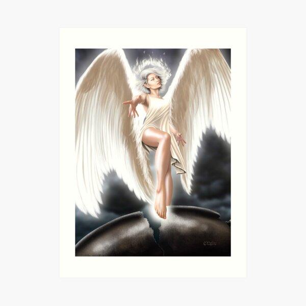 The Angel of Death (Amren-Glow) Art Print