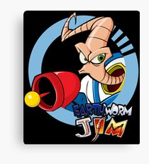 Earthworm Jim ... He Is A Funny Guy Canvas Print