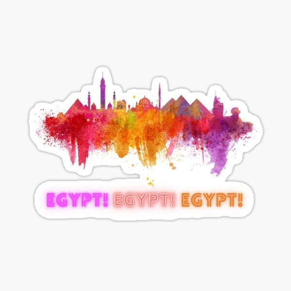 Skyline Egypt Cairo & The Pyramids Sticker