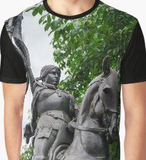 Janna d'Ark on the horse, metal sculpture, Nancy, France Graphic T-Shirt