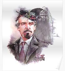 Watercolor Delgado!Master transparent version Poster
