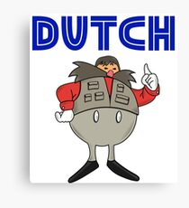 Zeb Coulter/Dutch Mantel Dr Eggman (sonic the hedgehog/wrestling)) Canvas Print